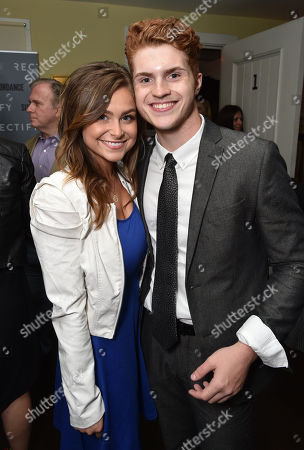 "Gianna DiLoren, left, and Jake Austin Walker attend the premiere after party of SundanceTV's ""Rectify"" season 2, in Los Angeles"