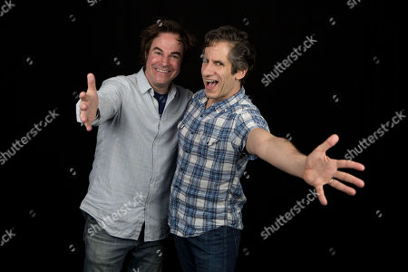 Roger Bart, left, and Seth Rudesky pose for a portrait in New York