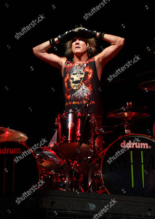 Drummer James Kottak of the Scorpions performs on Friday at Charter One Pavilion at Northerly Island in Chicago