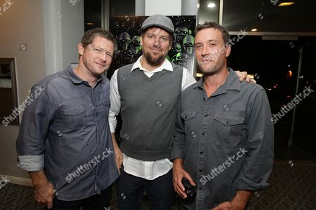 """Producer Corey Campodonico, Co-Director Ross Shuman and Producer Alex Bulkley seen at Shadow Machine's """"Hell and Back"""" Special Screening, in Los Angeles, CA"""