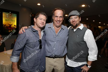 """Producer Corey Campodonico, John Farley and Co-Director Ross Shuman seen at Shadow Machine's """"Hell and Back"""" Special Screening, in Los Angeles, CA"""
