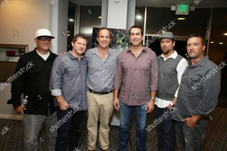 """Co-Director Tom Gianas, Producer Corey Campodonico, John Farley, Rob Riggle, Co-Director Ross Shuman and Producer Alex Bulkley seen at Shadow Machine's """"Hell and Back"""" Special Screening, in Los Angeles, CA"""
