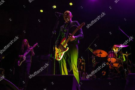 Mark Stoermer of The Killers performs with Billy Corgan and Brad Wilk of Rage Against the Machine, as part of the special new line-up of the Smashing Pumpkins at Thalia Hall on in Chicago