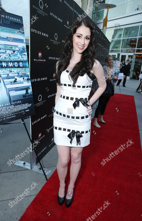 """Stock Image of Sarah Hackett at the LA special screening of Millennium Entertainment's """"Upside Down"""" at the ArcLight Hollywood on in Los Angeles"""