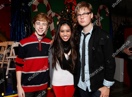 Joey Luthman, Ashley Argota and Austin Anderson attend the Starlight Winter Wonderland presented by Northwestern Mutual on in Los Angeles, California