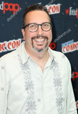 "John Shiban, from the STARZ original series ""Da Vinci's Demons"", poses for a photo at New York Comic Con on in New York"