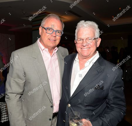 SEPTEMBER 21: Academy Governor John Shaffner (L) and producer/director Spike Jones Jr. attend the Television Academy's 64th Primetime Emmy Awards Performers Nominee Reception at the Pacific Design Center on in West Hollywood, California