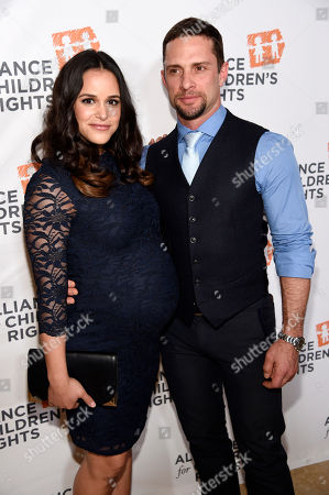 Actress Melissa Fumero poses with her husband David Fumero at The Alliance for Children's Rights' 24th Annual Dinner at the Beverly Hilton, in Beverly Hills, Calif