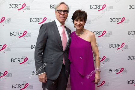 Tommy Hilfiger and Breast Cancer Research Foundation President Myra Biblowit attend the Breast Cancer Research Foundation's 10th Anniversary Boston Hot Pink Party 2015 at the Seaport World Trade Center on in Boston, Massachusetts