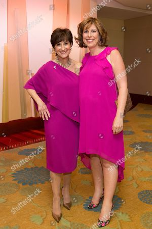 Breast Cancer Research Foundation President Myra Biblowit and Kelley Tuthill attend the Breast Cancer Research Foundation's 10th Anniversary Boston Hot Pink Party 2015 at the Seaport World Trade Center on in Boston, Massachusetts