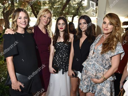 Wendi Ferreira, from left, Tara Swennen, Odeya Rush, Emily Ratajkowski and Jimmy Choo's Sara Riff attend The Hollywood Reporter & Jimmy Choo Celebration of the Most Powerful Stylists in Hollywood, in West Hollywood, Calif