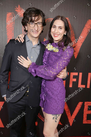 Paul Rust and Creator/Writer/Executive Producer Lesley Arfin seen at the Los Angeles premiere of the Netflix original series 'Love' at The Vista Theatre, in Los Angeles, CA