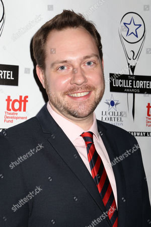 """Theater director Moritz von Stuelpnagel at the 29th Annual Lucille Lortel Awards at the NYU Skirball Center in New York. Von Stuelpnagel, the artistic director of the downtown Studio 42 company, is directing two works: """"Verite,"""" a thriller starring Anna Camp currently at Lincoln Center, and """"Hand to God,"""" a satire starring a sock puppet that's coming to Broadway this month"""