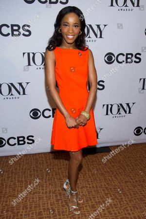 """Valisia LeKae attends the 2013 Tony Awards Meet the Nominess press reception in New York. On a day that Broadway was celebrating at the Tony Awards nominations, there was another, bigger reason to cheer: One of their own was cancer-free. LeKae, a budding Broadway star who earned a Tony nomination playing Diana Ross in the hit show """"Motown the Musical,"""" took to Twitter, to say that she has beaten ovarian cancer"""