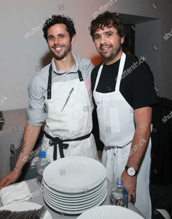 Chef Ari Taymor of Alma, left, and Chef Jon Shook of Son of a Gun seen at the Third annual Baby2Baby Gala honoring Kate Hudson at The Book Bindery, in Culver City, Calif