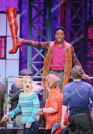 "Stock Picture of Billy Porter, winner of the Tony award for best actor in a musical, performing a number with the cast of ""Kinky Boots"" at the 67th Annual Tony Awards in New York. Six alumni from Carnegie Mellon University took home Tonys in five categories, a glittery haul that was both a school record and a huge source of pride for a theater department that turns 100 next year. Billy Porter, Patina Miller and Judith Light each took home acting Tonys, while Ann Roth got one for best costume design, and partners Jules Fisher and Peggy Eisenhauer won for best lighting design of a play"