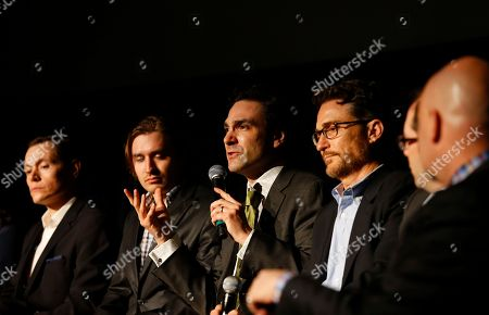 Executive producers, Barry Josephson and Craig Silverstein and author of 'Washington's Spies', Alexander Rose, discuss AMC's new series TURN at a private screening with former President George H. W. Bush on Saturday, March, 29, 2014 in Houston, Texas