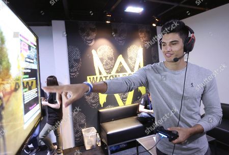 Siva Kaneswaran playing Watch Dogs 2 at Ubisoft E3 2016 - Day 3 at the Los Angeles Convention Center, in Los Angeles