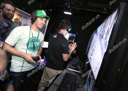 Jon Heder playing Steep at Ubisoft E3 2016 - Day 3 at the Los Angeles Convention Center, in Los Angeles