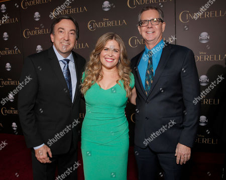 "Peter Del Vecho, Jennifer Lee and Chris Buck attend the World Premiere Of ""Cinderella"", in Los Angeles"