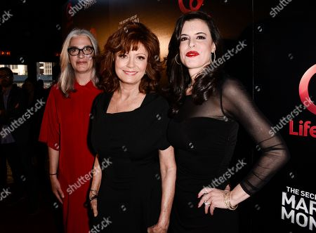 "From left to right, director Laurie Collyer, actress Susan Sarandon, and executive producer Keri Selig attend the world premiere of the television miniseries ""The Secret Life of Marilyn Monroe"" in Los Angeles on"