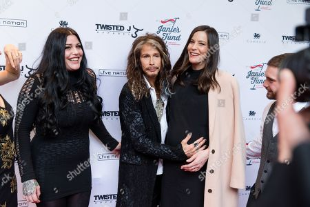 Stock Picture of Chelsea Tyler, left, Mia Tyler, Steven Tyler, Liv Tyler and Taj Tallarico are seen at â?œSteven Tylerâ?¦OUT ON A LIMBâ?? at Lincoln Center on in New York