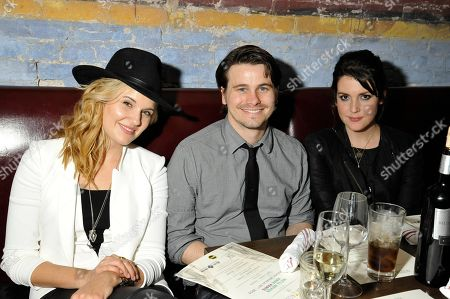 """Editorial image of """"We'll Never Have Paris"""" Cast Dinner at Supper Suite By STK with Blue Moon Beer, Austin, USA - 10 Mar 2014"""