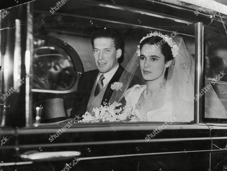 Picture Shows The 7th Earl Of Harewood And Fiancee Marion Stein. She Became His Wife Countess Of Harewood On 29/9/1949 They Are Pictured On Their Wedding Day. They Divorced In April 1967. (married Jeremy Thorpe 3/1973) He Is A Cousin Of The Queen His Mother Was Mary The Princess Royal. (filed In Main Library Lp-3f)
