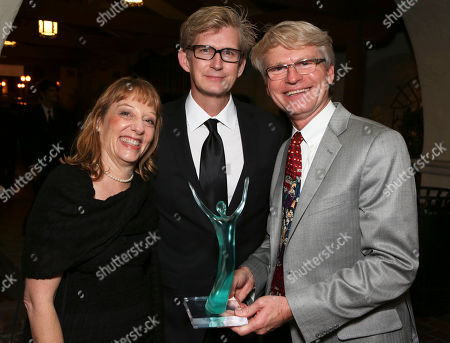 From left, Murry Hepner, Bill Brochtrup and CTG Managing Director Edward L. Rada pose during the 24th Annual LA Stage Alliance Ovation Awards held at the San Gabriel Mission Playhouse, in San Gabriel, Calif