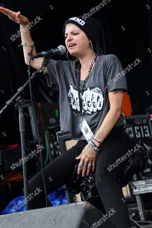Juliet Simms performs at the 2013 Van's Warped Tour at the Central Florida Fairgrounds on inOrlando Florida