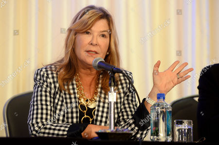 Terry Press of CBS Films speaks at the 2014 Independent Film & Television Alliance Annual Production Conference on in Los Angeles
