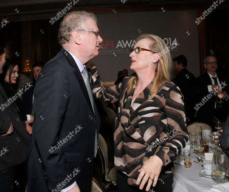 Sir Howard Stringer and Meryl Streep attend the AFI Awards at The Four Seasons Hotel on in Los Angeles