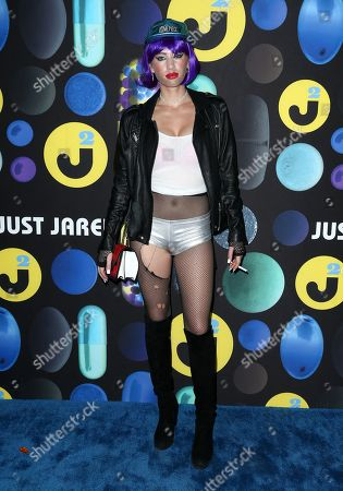Dylan Frances Penn attends the 2015 Just Jared Halloween Party at No Vacancy, in Hollywood, Calif