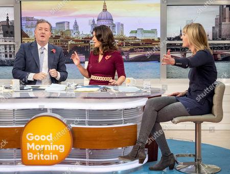 Piers Morgan and Susanna Reid with Sophie Walker
