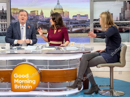 Piers Morgan and Susanna Reid with Sophie Walker