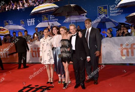 Natalie Portman, from left, director Rebecca Zlotowski, Lily-Rose Depp, Emmanuel Salinger arrives at the Planetarium premiere on day 3 of the Toronto International Film Festival at Roy Thomson Hall, in Toronto