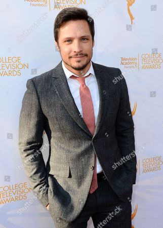 Nick Wechsler poses on the red carpet at the 35th College Television Awards, presented by the Television Academy Foundation at The Leonard H. Goldenson Theatre in the NoHo Arts District, in Los Angeles
