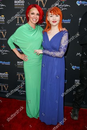 Stock Image of Gretchen Bonaduce, left, and Countess Bonaduce arrive at the 3rd Annual Reality TV Awards at the Avalon Hollywood, in Los Angeles