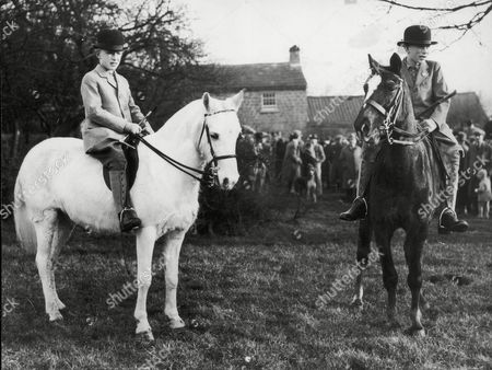 Viscount Lascelles (r) (now The 7th Earl Of Harewood) Pictured With His Brother Gerald Lascelles (died 2/98) During Braham Moor Hunt At East Keswick. He Is A Cousin Of The Queen His Mother Was Mary The Princess Royal. (filed In Main Library Lp-3f)