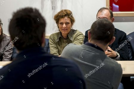 Stock Photo of Blandine Brocard attends Press Conference 'bistrot' for LREM members at the end of their monthly meeting.