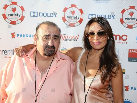 From left, Actor Ken Davitian and Vidal Davice attend the 3rd Annual Variety Charity Texas Hold 'Em Tournament & Casino Game at Paramount Studios on in Hollywood, California
