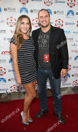 From right, Actor Erik Aude and girlfriend Chanel Ross attend the 3rd Annual Variety Charity Texas Hold 'Em Tournament & Casino Game at Paramount Studios on July 17, 2013 in Hollywood, California., in Hollywood, California
