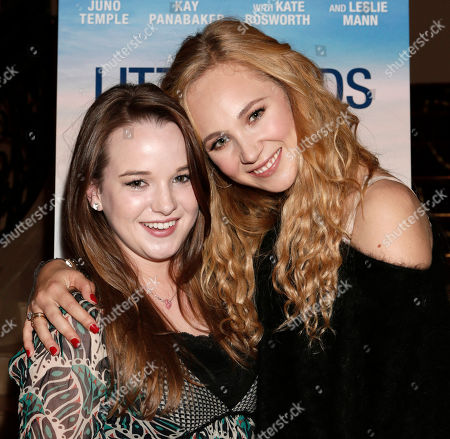 """Kay Panabaker and Juno Temple attend a screening of """"Little Birds"""" presented by Ben Lyons and Hello Giggles at the Grove on in Los Angeles"""