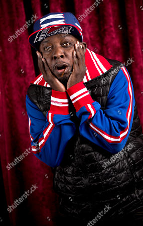 Stock Picture of Malik Isaac Taylor aka Phife Dawg of A Tribe Called Quest poses for a portrait at Sirius XM studios, in New York