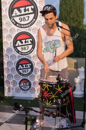 Ryan Rabin of Grouplove performs at the Alt 98.7 Penthouse in the Historic Hollywood Tower on in Hollywood, California