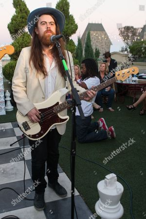 Sean Gadd of Grouplove performs at the Alt 98.7 Penthouse in the Historic Hollywood Tower on in Hollywood, California