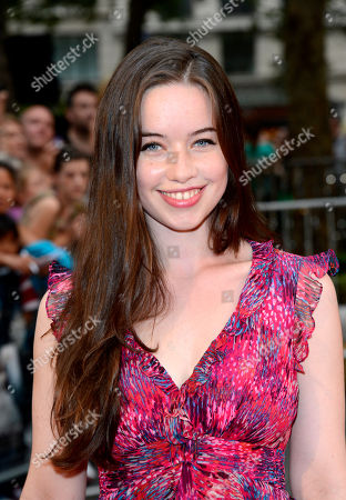 Anna Popplewell poses at Anna Karenina World Premiere at Odeon West End on in London