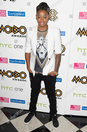 Amplify Dot arrives for the MOBO Awards 2013 Nominations launch party, at a central London venue