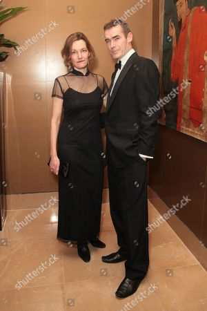 Tanya Ronder and Rufus Norris attend the London Critics Circle Awards at the May Fair Hotel,, in London