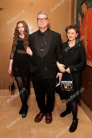 Film critic Mark Kermode (middle) and guests attend the London Critics Circle Awards at the May Fair Hotel,, in London